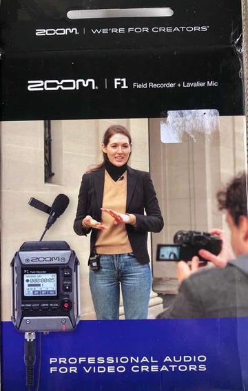 Gravador Zoom F1 + Lapela