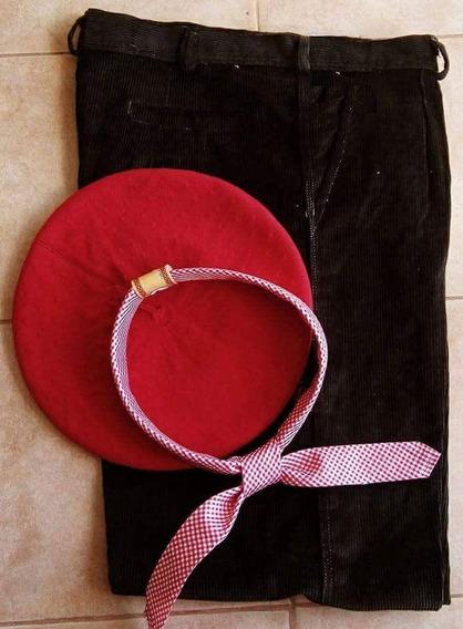 Combo: Bombacha Corderoy + Boina Lisa + Pañuelo Planchado