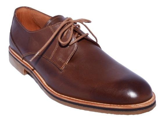Zapato Cuero Natural Victor Rinaldi Asfl70 Hombre Art 120 Marron