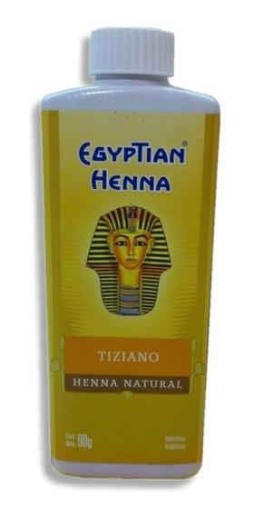 Henna Egyptian Polvo 90g Tiziano Dorado Rubio Castaño Marron