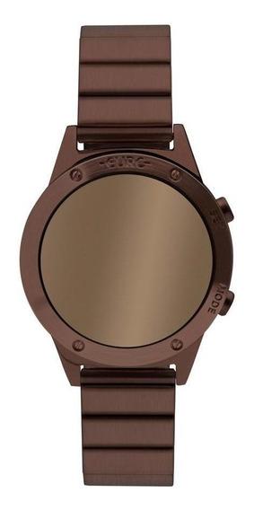 Relógio Feminino Euro Ff Reflexos Marrom - Original
