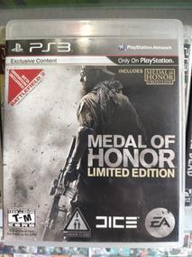 Ps3 Medal Of Honor Limited Edit® Mídia Física Playstation 3