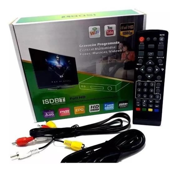 Conversor Tv Digital Gravador Full Hd Wifi Youtube + Brinde