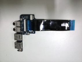Conector Usb + Audio Do Netbook Toshiba Satélite T115-s1100