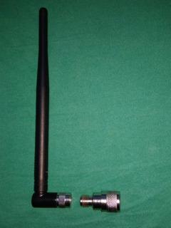 Antena Interna Tnc Macho 900/1800mhz+adapt N Macho/tnc Fêmea