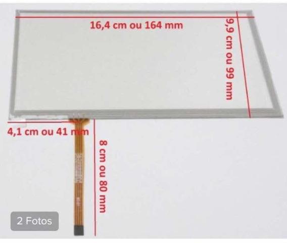 Tela De Toque Touch Screen 7 Multimidia Flat Inferior Esque