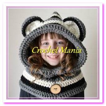Gorros Tejidos Crochet Tipo Capucha Para Niño Niña 1 9 Años