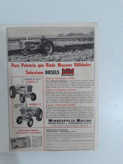 Propaganda Antiga Trator Minneapolis Moline Modelo G E U