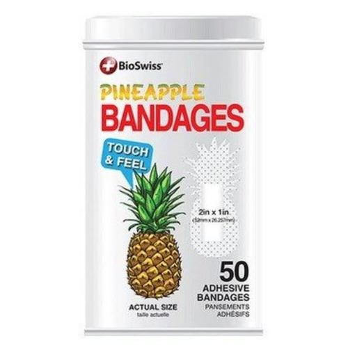 Bioswiss - Pineapple Latinha 50 Band Aids Abacaxi