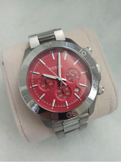 Relógio Fossil - Fundo Vermelho