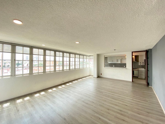 Penthouse Exterior. Renta. 123m2. 2 Recamaras. Vertiz Narvarte
