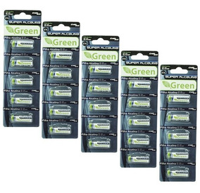 Pack 50 Unidades Pilha Alcalina A27 Bateria 27a Frete Gratis
