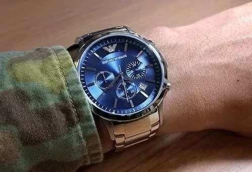 Relógio Masculino Pa057 Emporio Armani Ar2448 Original 43mm