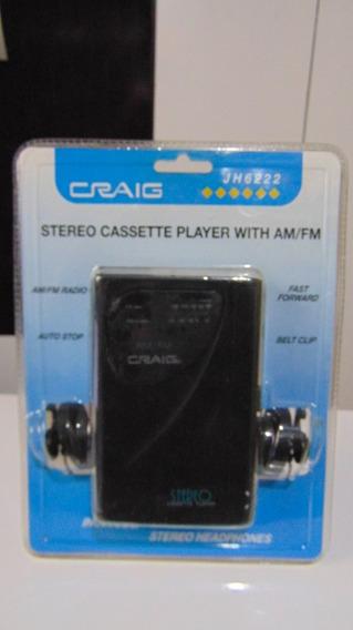 Walkman (rádio Am-fm+fita K-7) *craig Jh6222. Novo! Lacrado!