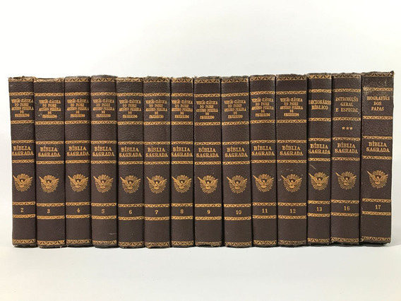 Biblia Sagrada Ilustrada Padre Antonio Figueiredo 14 Volumes