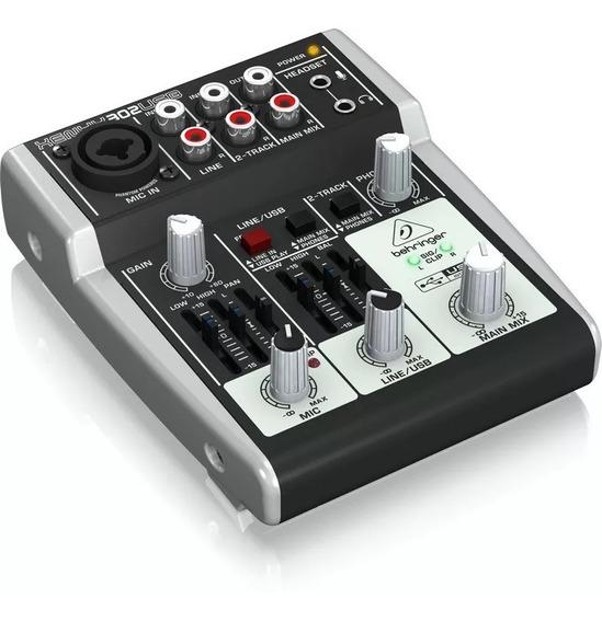 Consola Mixer Behringer 302 Usb Grabacion 3cana Musica Pilar