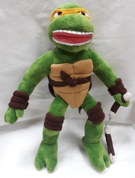 Boneco De Pelúcia Michelangelo Tartaruga Ninja Grande 40 Cm