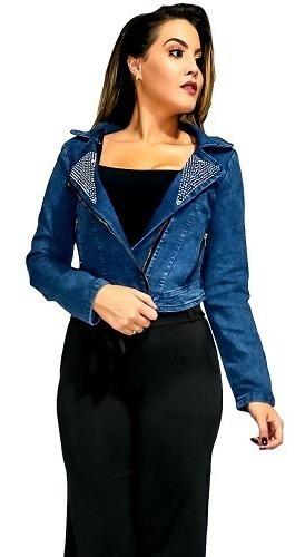 Jaqueta Jeans Feminina Com Ziper. Ref: 711