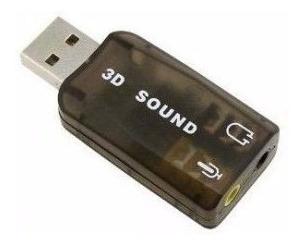 Mini Placa Som 3d 5.1 Usb Fone Ouvido Frete R$ 8,49 Rastreio