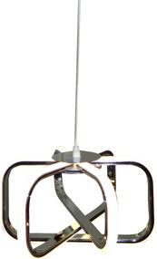 Lustre Pendente Neon Branco Neutro 52cm De Diametro Promoção