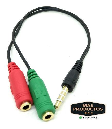Cable Y 3.5 A 2 Jack Hembra Mic/audifono Plus De 4 (contacto