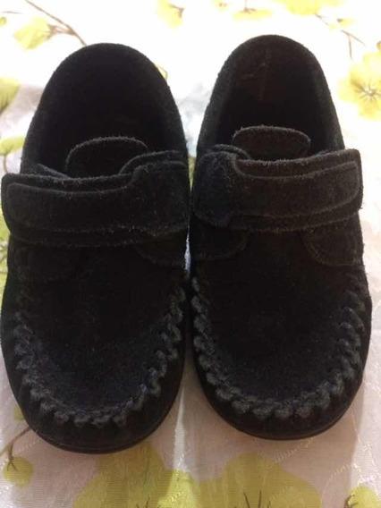 Zapatos De Gamuza Con Abrojo Mocasines Talle 22/33 De Nene