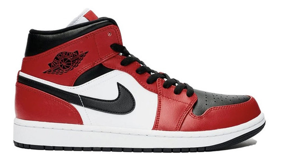 Tenis Nike Air Jordan 1 Mid Chicago Black Toe Royal Bred
