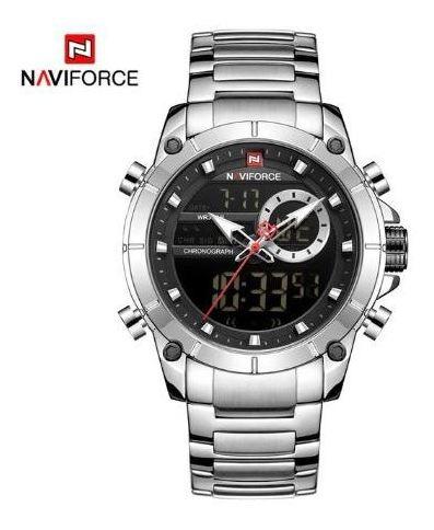 Relógio Naviforce 9163 Analógico Digital Luxo Masculino