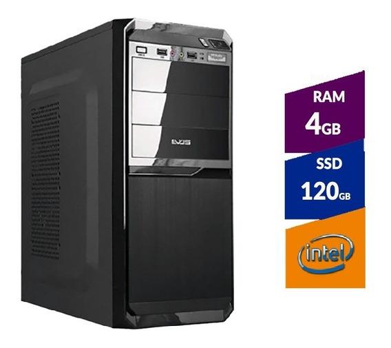 Pc Intel Pentium G5400 8ª Ger + Ssd120gb + 4 Gb Ddr4 2400mhz