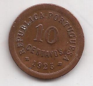 Portugal Moneda De 10 Centavos Año 1925