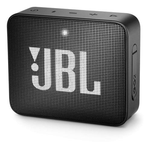 Imagen 1 de 5 de Parlante JBL Go 2 portátil con bluetooth midnight black 110V/220V