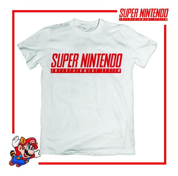 Camiseta Camisa Super Nintendo Snes Videogame Super Mario