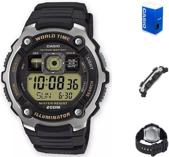 Reloj Casio Digital Ae2000 Hombre *watchsalas*
