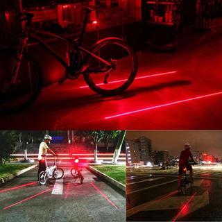 Luz Bike Led E Laser Segurança.