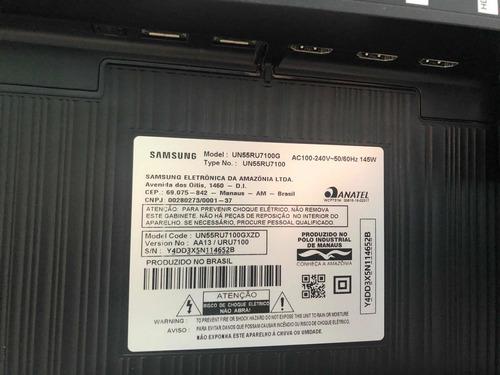 Imagem 1 de 5 de Tv Samsung Uhd 4k Led 55 55ru7100