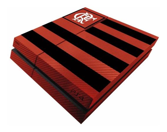 Skin Carbono Ps4 Fat Flamengo - Modelo 1 - Frete Grátis