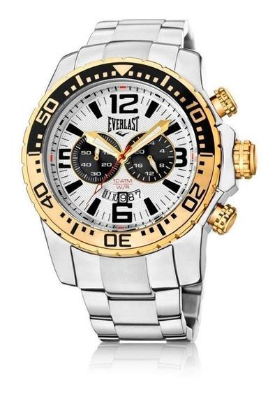 Relógio Cronografo Everlast E654 Prateado