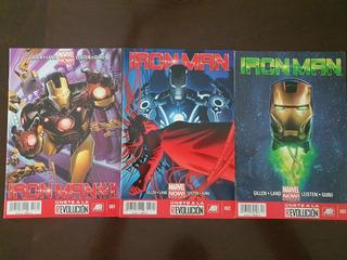 Marvel Now! México Cómics Iron Man #s 1, 2 Y 3