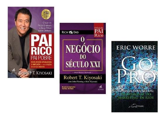 Kit Livros - Pai Rico + Negócio Século Xxi + Go Pro #