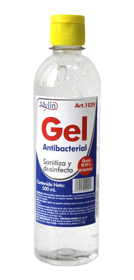 Gel Antibacterial 500 Ml Litros Fantasías Miguel 1029 Mylin