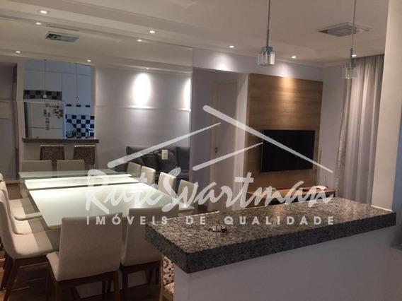 Apartamento Com 2 Dormitórios E 2 Garagens Cobertas À Venda, 60 M² Por R$ 490.000 - Mansões Santo Antônio - Campinas/sp - Ap1083