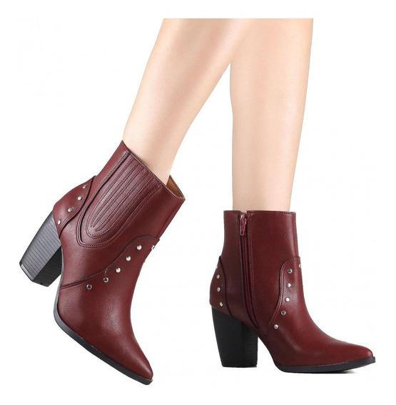 Bota Feminina Via Marte Ankle Boot 19-6002