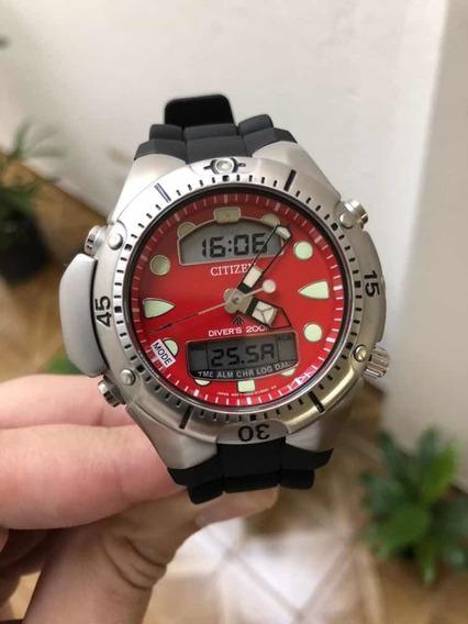 Relógio Citizen Aqualand Jp1060 Vermelho
