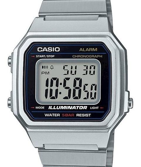 Relógio Casio Vintage Unissex Quadrado Prata Grande