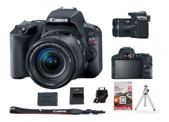 Câmera Canon Sl2 C/ 18-55mm + Bolsa + 64gb + Tripé