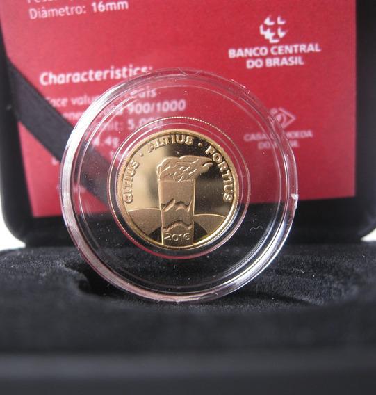 Moeda Comemorativa Olimpíadas Ouro Tocha 12 X Frt Grátis 224
