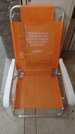Cadeira De Praia Reclinável