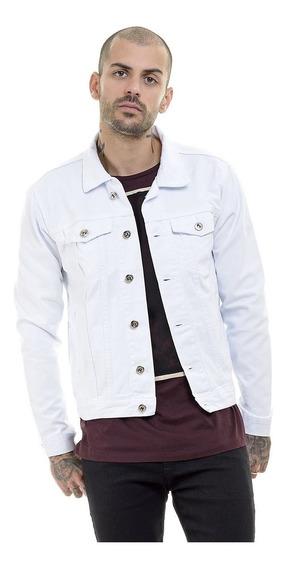 Jaqueta Jeans Slim Fit Masculina Destroyed Rasgada Offert