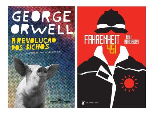 Kit: Revolução Dos Bichos + Fahrenheit 451 - Orwel, Bradbury