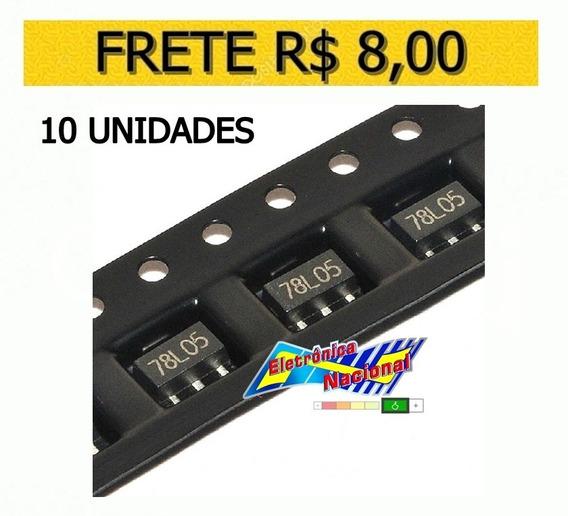 10 Unid. 78l05 Regulador Tensão Smd 7805 5v 100ma Sot-89